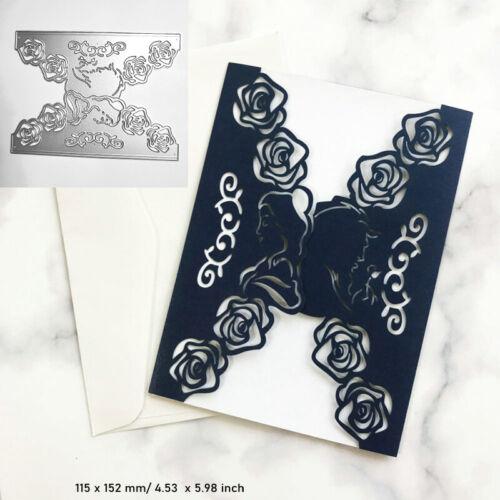 Rose Heart Cutting Dies Metal Stencil DIY Scrapbook Album Paper Card Frame Art
