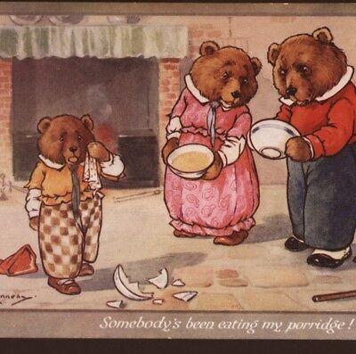 "GOLDILOCKS & 3 BEARS FAIRY TALE,""SOMEBODY'S BEEN EATING MY PORRIDGE!""  POSTCARD | eBay"