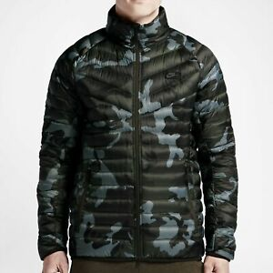 708324 Fill svart grønn Guild Nike menns Camo Down Small Jacket 037 550 Grå UIU0Pw