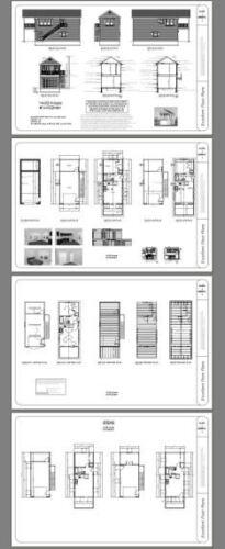 14x32 Tiny House 567 sq ft Model 6H PDF FloorPlan