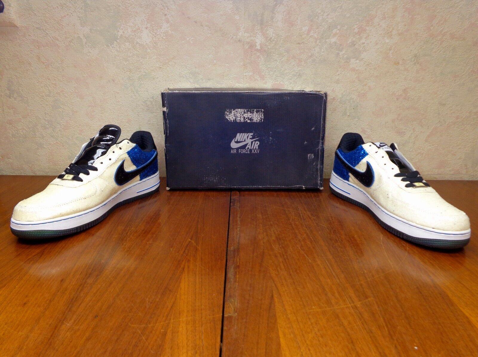 Nike Air Force XXV 25  AF1-82 Size 11 Sneakers Cooper Malone Natt  GLITTER  NEW