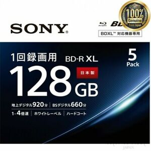 SONY-Blu-ray-Disc-For-video-5BNR4VAPS4-5-pack-4-layers-BD-R-4x-Made-In-JAPAN