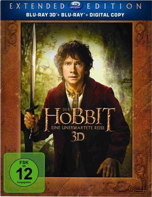 3D Blu-ray Der Hobbit: Eine unerwartete Reise - Extended Edition inkl 2D NEU OVP