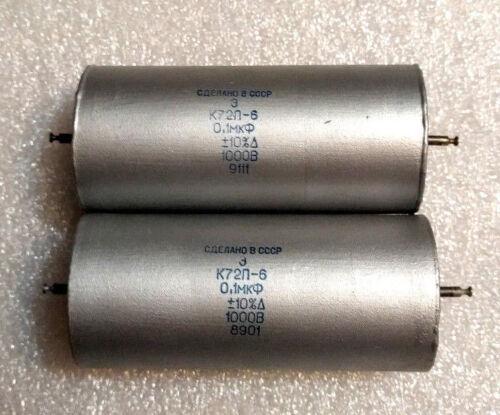 0.1uF 1000V AUDIO teflon capacitors K72P-6.Lot of 1pcs.