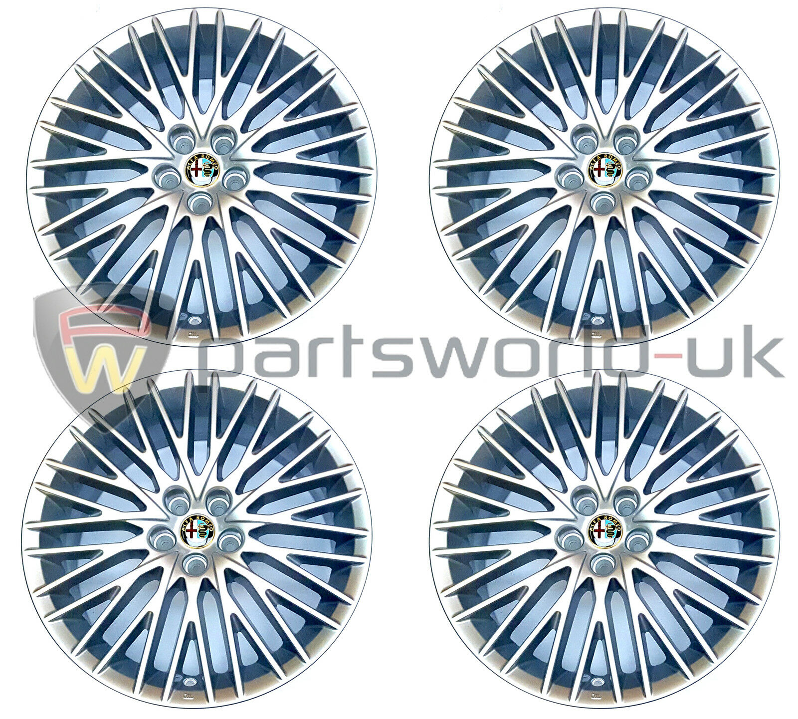 Set Of 4 Alfa Romeo 147 Collezione 156 Gt 17 Alloys Alloy Wheels Rims Norton Secured Powered By Verisign