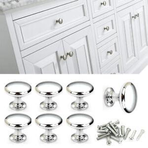 Multiple Chrome Door Knobs Drawer Wardrobe Kitchen Cupboard Handles Silver Uk Ebay