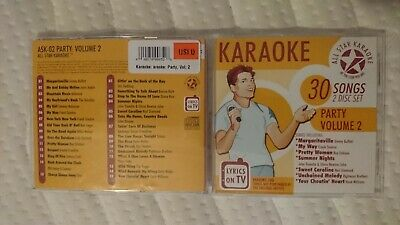 Cdg Learned All Star Karaoke Fun Pack Cd+g Ask02v2 Party 2 Disc Set Vol.2
