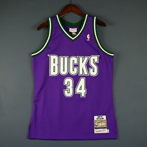 watch e8692 9081b Details about 100% Authentic Ray Allen Mitchell & Ness 00 01 Bucks NBA  Jersey Size 36 S Mens