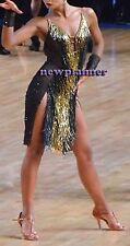 U6217 Competition ballroom Salsa Latin Rumba swing women Dance Dress Custom made