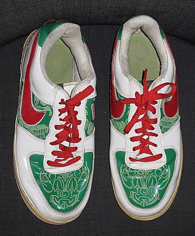 Nike air force 1 la verde bianco rosso il da cartone animato scarpe da il ginnastica maschile di 11,5 45,5 8147a0