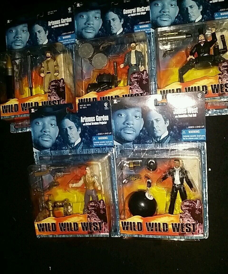 Will smith wild wild west 1999 warner bros. Movie inspiROT action figure lot