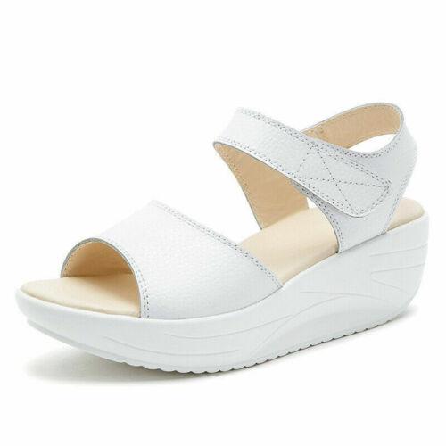 Women Sandals Wedge Platform Heel Slingback Pumps Ladies Summer Shoes Size Strap
