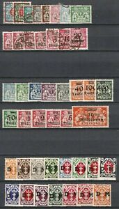 Germany (Weimar Republic) Danzig 1920-1938 - Mint/Used Collections Variations