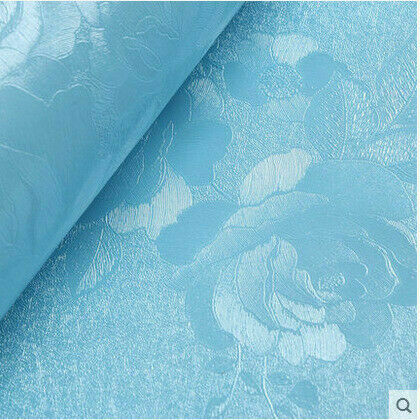 Bule Rose Peel and Stick Blue Wallpaper Contact Paper Self Adhesive Removable-2M