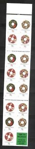 US-SC-BK270-Christmas-wreaths-Complete-Booklet-MNH