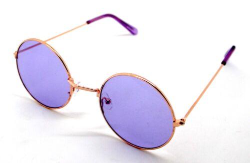 PT Gafas de Sol Hippie Retro Redondas Hombre Mujer Sunglasses UV 400 Morado
