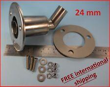 Stainless steel exhaust thru hull skin fitting 24 f/ Webasto Planar Eberspacher