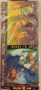 Vintage-Nickelodeon-CatDog-24-034-Diamond-Kite-Spectra-Star-NEW-Cat-Dog-Flying-Rare