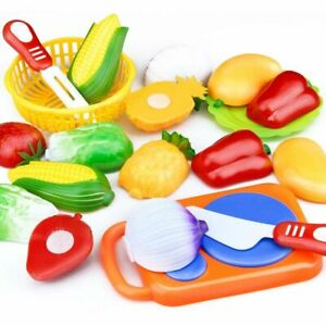 Kids-Plastic-Toy-Fruit-Vegetable-Cutting-Kitchen-Play-Pretend-Food-Fun-Toys-Set