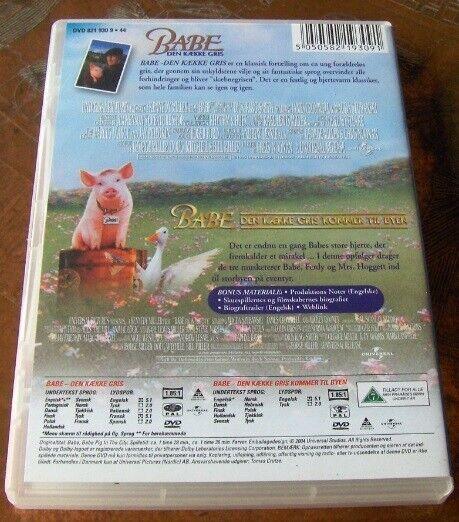 DVD x 2: BABE, DEN KÆKKE GRIS - TO DVD'ere, DVD