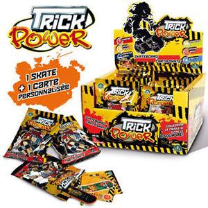 1 carte 1 Skate 1 Sachet TRICK POWER