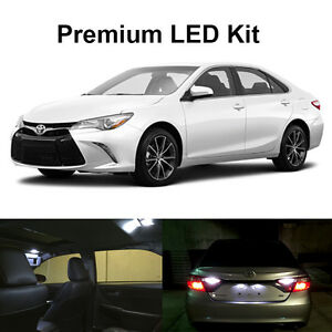 14 x xenon white led interior reverse tag lights kit for 2012 2016 2017 camry ebay. Black Bedroom Furniture Sets. Home Design Ideas