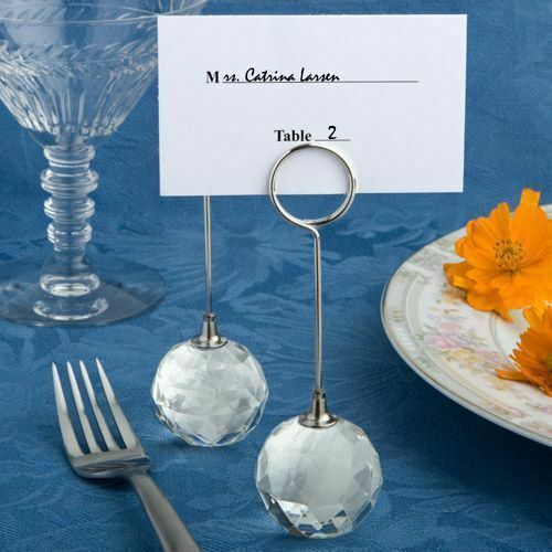 20-100 Crystal Ball Place Card Holders - Wedding Shower Party Favors