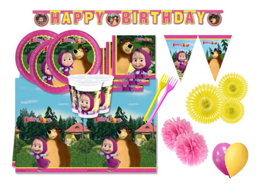 Kit n62 coordinato per compleanno  Masha e Orso decorazione decorazione decorazione party feste 82140d