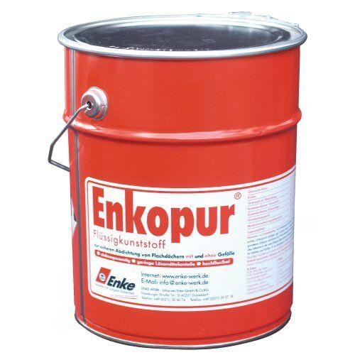 Enke Enkopur Flüssigkunststoff Silbergrau 4,0 kg - Abdichten Balkon Terasse usw.