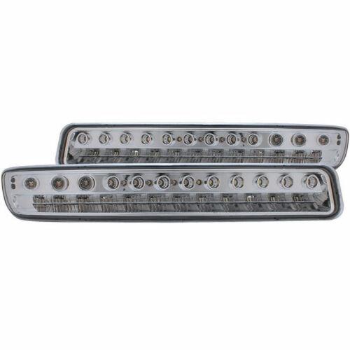 Anzo USA LED Parking Lights Chrome w// Amber Reflector for GMC Sierra//Yukon 99-06