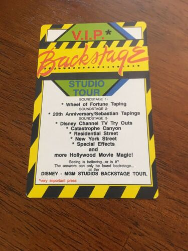 MGM Studios Walt Disney World Backstage Pass Studio Tour