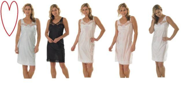 285e38dd2e63 Ladies full slip petticoat lace marlon under dress 10-32