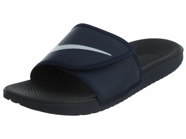 686749372db8 Nike Kawa Adjust Mens 834818-411 Obsidian Strap Solarsoft Slide Sandals Size  11