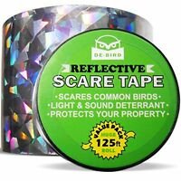 De-bird Repellent Scare Tape- Simple Control Device To Keep Away Woodpeckers, Pi on sale