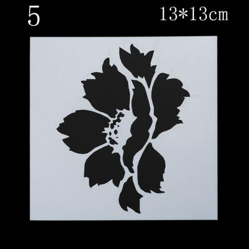 notebook blume stempel poesiealbum in einer vorlage plastik schablonensatz
