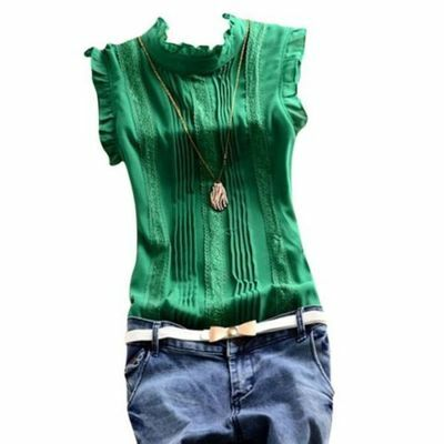 New Women Summer Lace Vest Top Sleeveless Blouse Casual Tank Tops T-Shirt Tee