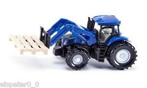 Tractor-With-Pallet-Fork-And-Palette-Siku-Super-Art-1487-New-Boxed