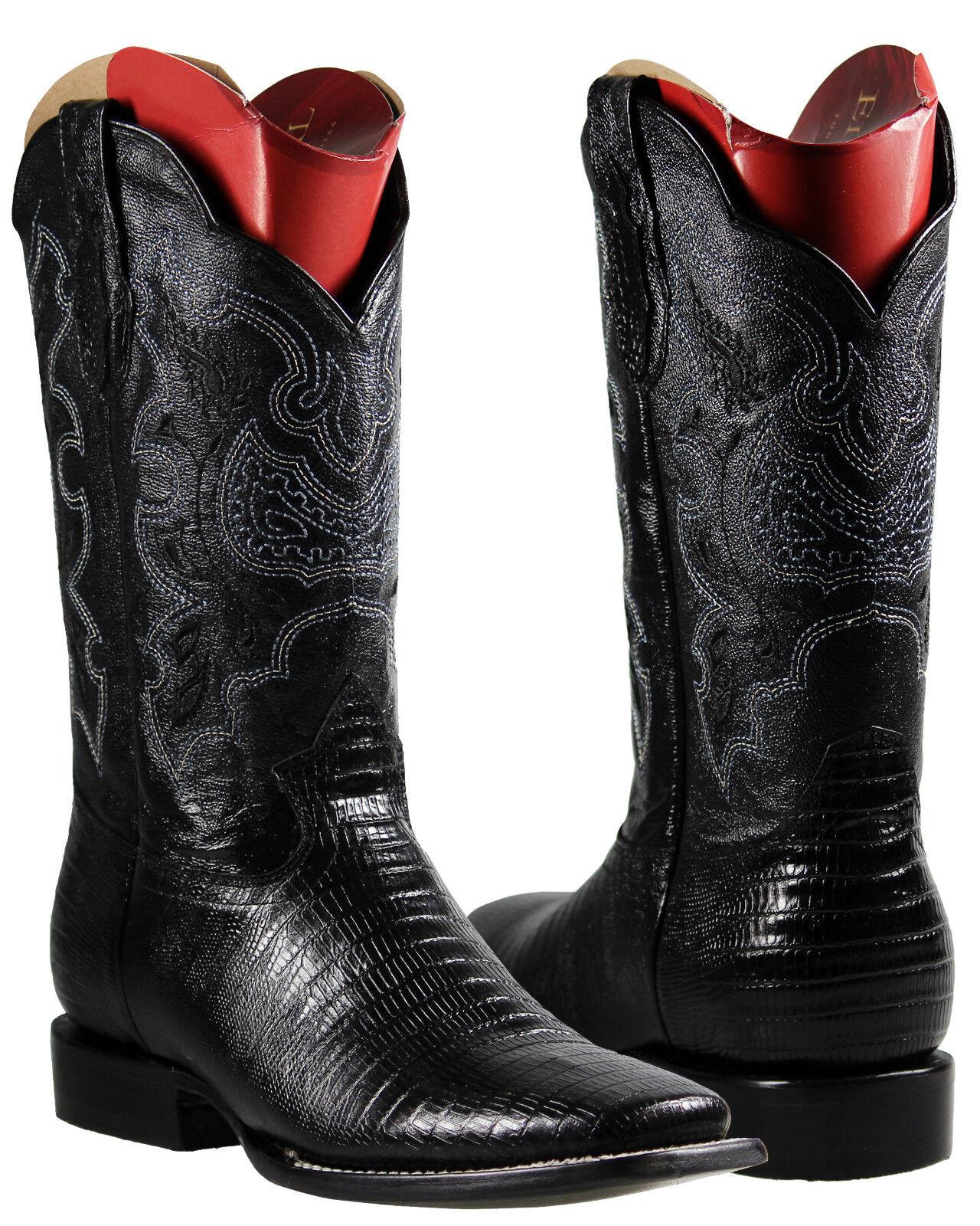 Men's Cowboy Rodeo Boots El General Lizard Print Imitacion Armadillo