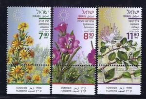 ISRAEL-STAMPS-2020-SUMMER-FLOWERS-SET-OF-3-HIGH-FACE-VALUE-MNH