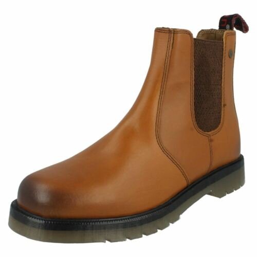 Hx01 Hombre Chelsea Boots Hx Leather Detail London Distributor By Swgdqw