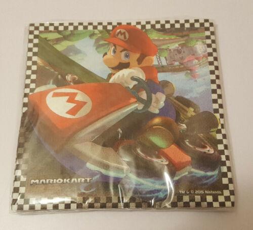 Super Mario Kart 8 serviettes pack de 16 NEUF et scellé