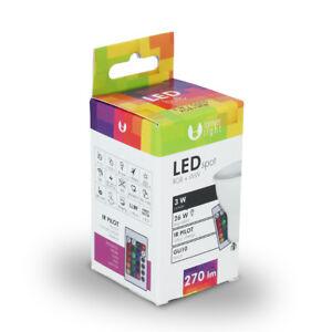 LED-RGB-Birne-GU10-3W-Lampe-Spot-Farbwechsel-Gluehlampe-mit-Fernbedienung