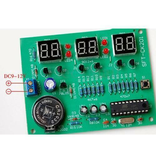 DIY Kit Module 9V-12V AT89C2051 6 Digital LED Electronic Clock Part Mu BS