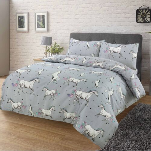 Licorn Beautiful Unicorns Pattern Luxury Duvet Covers Reversible Bedding Sets MS