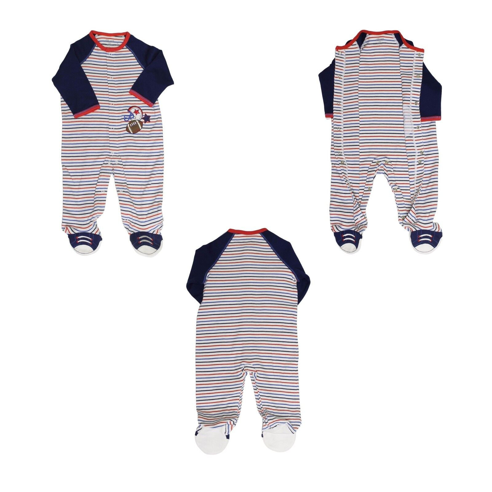 8f596ecd2 Little Me Baby Boys Footie Footed Pajamas Blue 3 Months