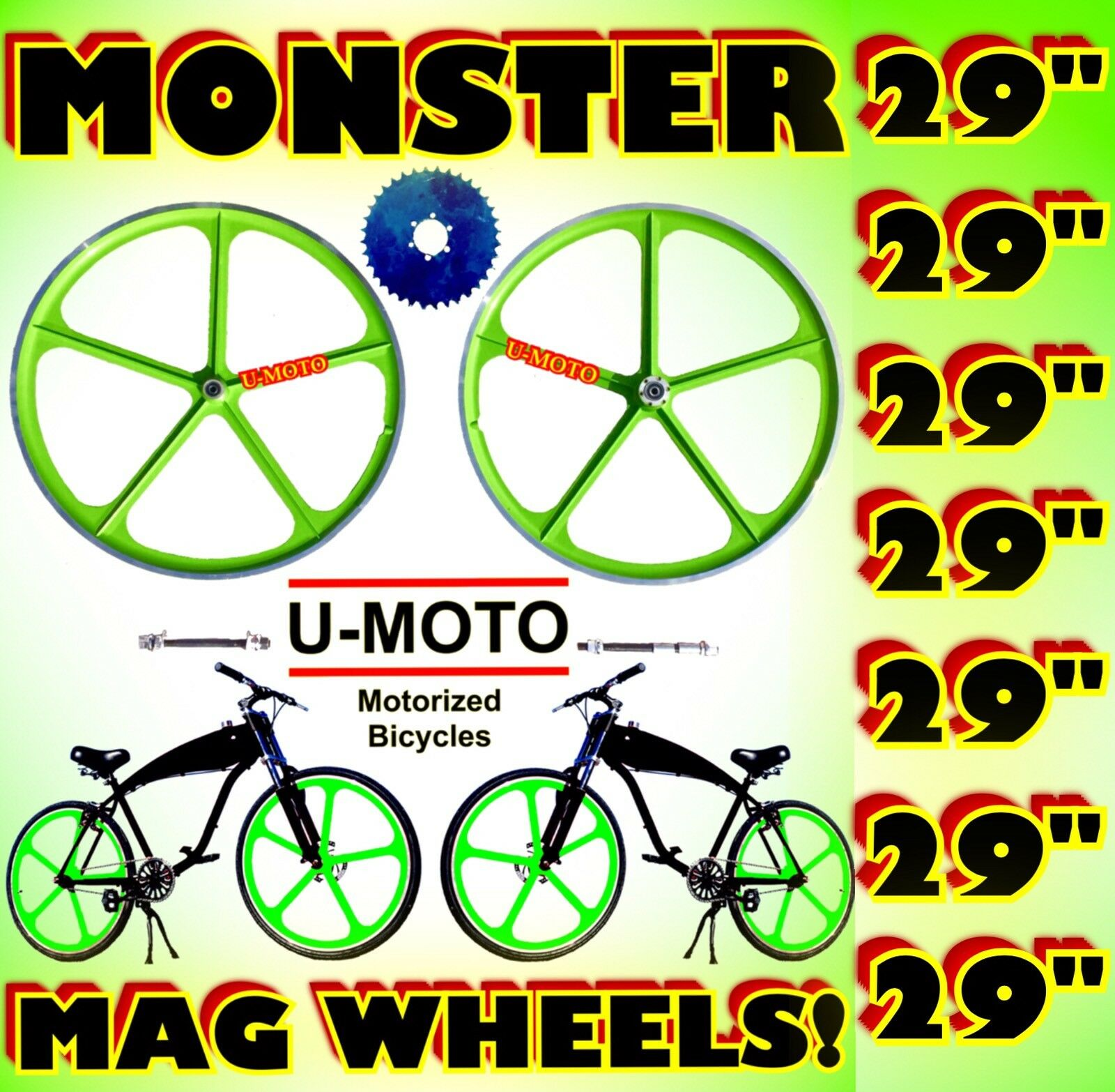 29  WHEELS FOR 2-STROKE 66CC 80CC MOTORIZED BIKE KIT AND BICYCLES
