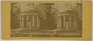 Tempio Da L'Amour Versailles Francia Foto Stereo PL28Th1n1 Vintage Albumina
