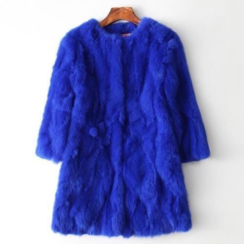 mouwen jas dik warme Dames 3 jas trenchcoat 4 boerderij echte konijnenbont Lange 5S8wO7