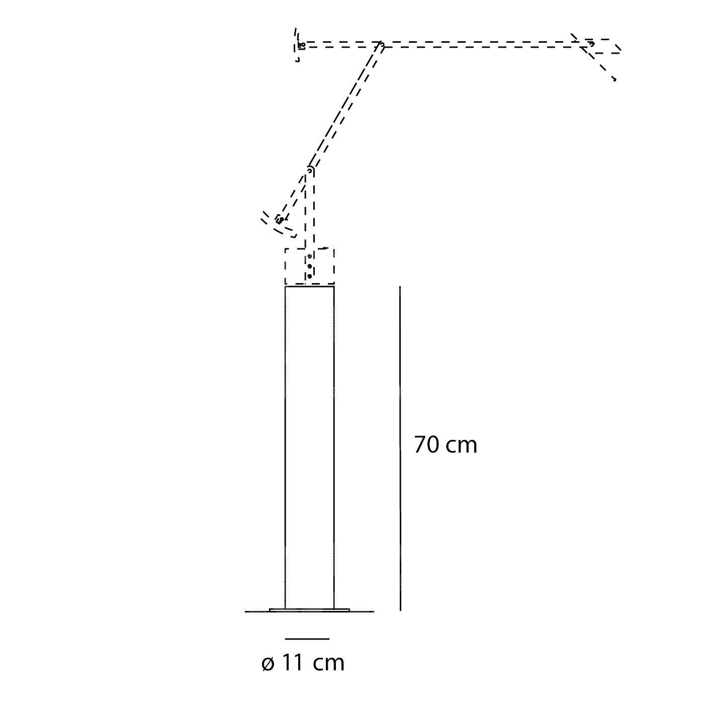 Artemide Supporto da terra per Tizio e Tizio LED - design Richard Sapper