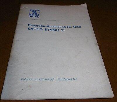 von April 1970 Sachs Stamo 51 Motor Reparaturanleitung Nr Orig 413.8//2